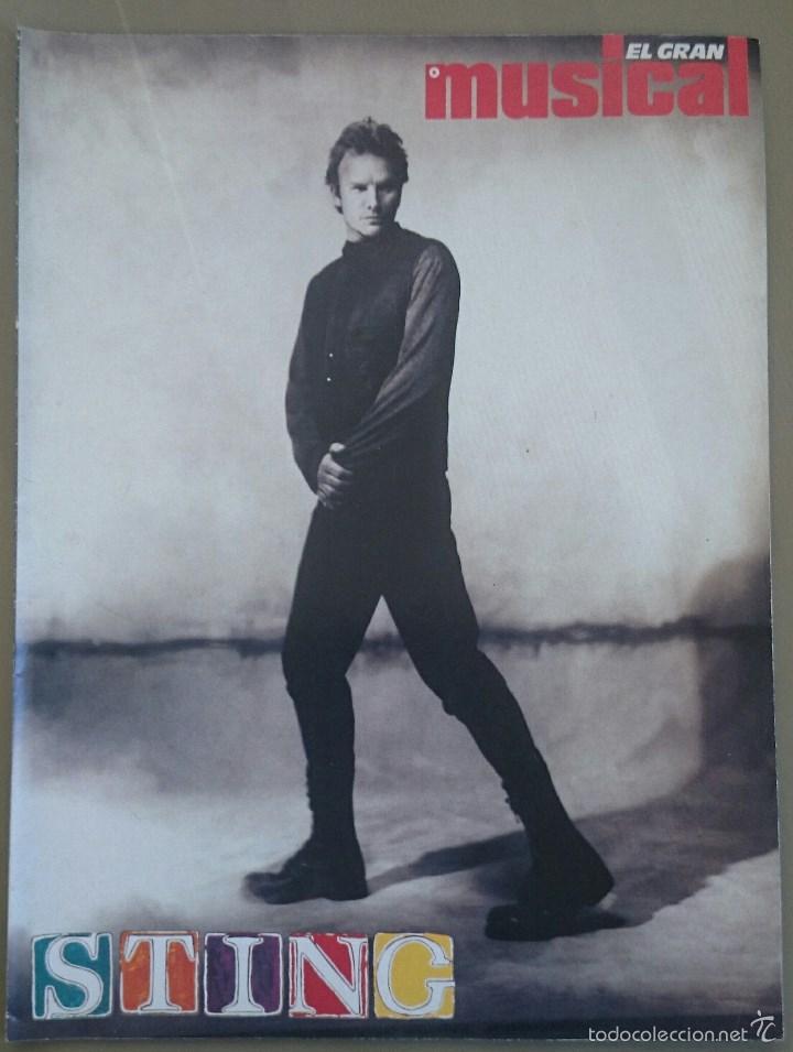 SUPLEMENTO ESPECIAL DE EL GRAN MUSICAL Nº 338, DE ABRIL DE 1991, DEDICADO A STING. 16 PÁGINAS. (Música - Revistas, Manuales y Cursos)