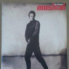 Revistas de música: SUPLEMENTO ESPECIAL DE EL GRAN MUSICAL Nº 338, DE ABRIL DE 1991, DEDICADO A STING. 16 PÁGINAS.. Lote 58635350