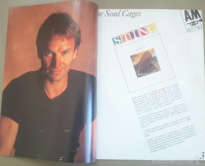 Revistas de música: Suplemento especial de El Gran Musical nº 338, de abril de 1991, dedicado a Sting. 16 páginas. - Foto 2 - 58635350