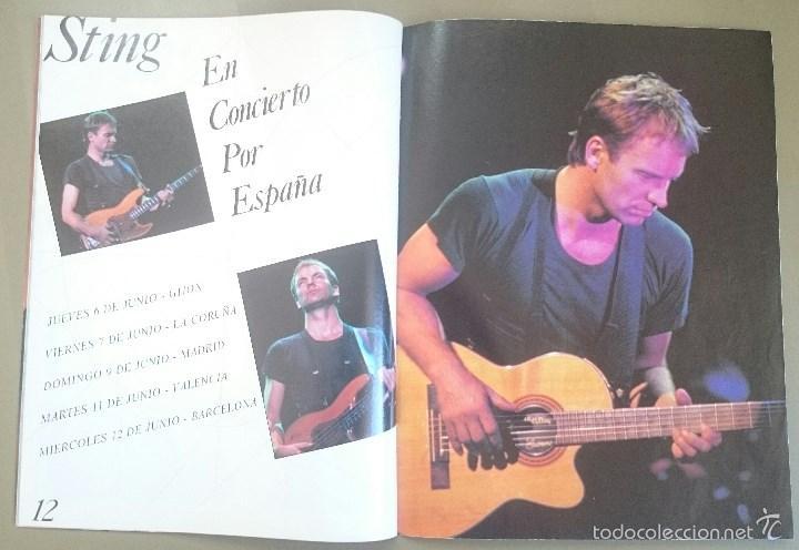Revistas de música: Suplemento especial de El Gran Musical nº 338, de abril de 1991, dedicado a Sting. 16 páginas. - Foto 4 - 58635350