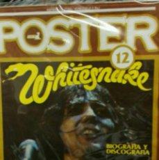 Revistas de música: POPULAR 1 POSTER NÚMERO 12 WHITESNAKE. INCLUYE POSTER.. Lote 58689874