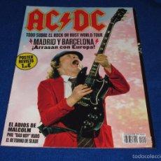 Revistas de música: AC/DC POSTER REVISTA THIS IS ROCK ESPECIAL AC/DC. Lote 128079630