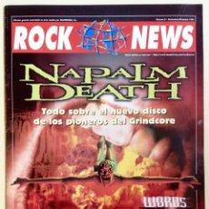 Revistas de música: ROCK NEWS MASTERTRAX NÚMERO 8 1998 NAPALM DEATH. Lote 59678795