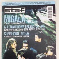 Revistas de música: STAF 2002 NÚMERO 14 MIGALA SUPERJOINT RITUAL SNAPCASE ASTERIK DON CLARK. Lote 60545175