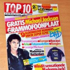 Revistas de música: MICHAEL JACKSON - REVISTA HOLANDESA CON FLEXIDISC PROMOCIONAL - COMPLETAMENTE NUEVO, SIN USO - 1987. Lote 60657575