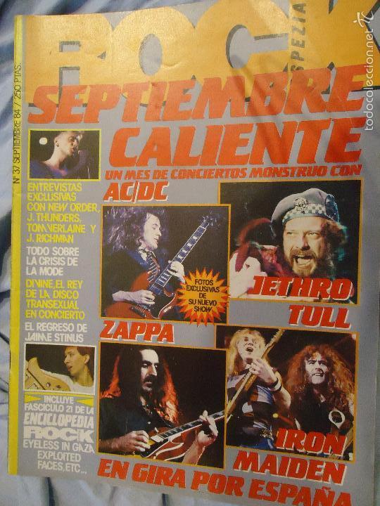 ROCK ESPEZIAL - Nº 37 - SEPTIEMBRE 1984 - AC/DC - JETHRO TULL - ZAPPA - IRON MAIDEN - EN PORTADA (Música - Revistas, Manuales y Cursos)