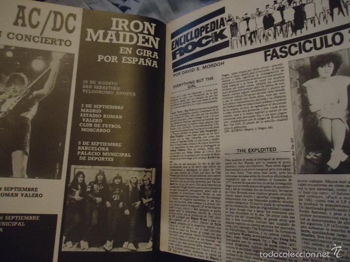 Revistas de música: ROCK ESPEZIAL - Nº 37 - SEPTIEMBRE 1984 - AC/DC - JETHRO TULL - ZAPPA - IRON MAIDEN - EN PORTADA - Foto 18 - 60729903
