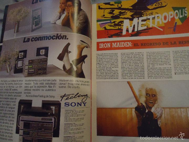 Revistas de música: ROCK ESPEZIAL - Nº 37 - SEPTIEMBRE 1984 - AC/DC - JETHRO TULL - ZAPPA - IRON MAIDEN - EN PORTADA - Foto 28 - 60729903