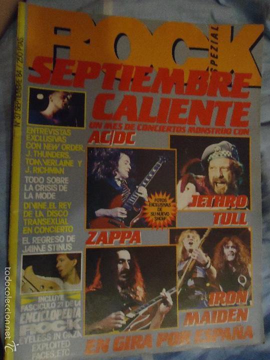 Revistas de música: ROCK ESPEZIAL - Nº 37 - SEPTIEMBRE 1984 - AC/DC - JETHRO TULL - ZAPPA - IRON MAIDEN - EN PORTADA - Foto 33 - 60729903