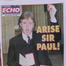 Revistas de música: PERIÓDICO LIVERPOOL ECHO 1997 PAUL MCCARTNEY BEATLES . Lote 61138947