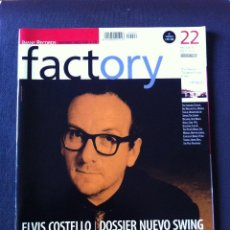Revistas de música: FACTORY 22 1999. ELVIS COSTELLO. THE TRIFFIDS, KRANKY RECORDS, BIS, FRANK BLACK, ... (SIN CD). Lote 61289655