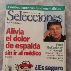 Revistas de música: REVISTA SELECCIONES READER'S DIGEST PAUL MCCARTNEY BEATLES . Lote 61320503