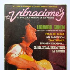 Revistas de música: REVISTA VIBRACIONES Nº2 NOVIEMBRE 1974. Lote 61335459