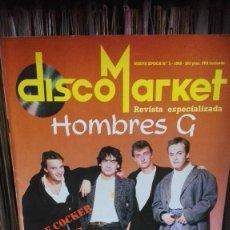 Revistas de música: DISCO MARKET -N3 1988 PORTADA HOMBRES G SINIESTRO TOTAL ASTRONAUTS. Lote 61458051