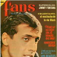 Revistas de música: REVISTA FANS – AÑO II Nº 42 - CELENTANO, BEATLES, STONES, EUROVISIÓN 66... POSTER JIMMY FONTANA. Lote 62003048
