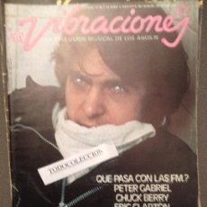 Revistas de música: VIBRACIONES 33 , JUNIO 1977: PETER GABRIEL / POSTERS : EAGLES / SUBIRACHS, LOU REED, ERIC CLAPTON. Lote 62866132