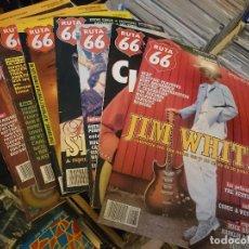 Revistas de música: LOTE DE 7 REVISTAS RUTA 66 AÑOS 90'S MISFITS BB KING SINATRA THE BEATLES ERIC CLAPTON . Lote 62970460