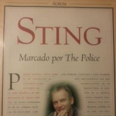 Revistas de música: STING-THE POLICE COLECCIÓN DE ARTÍCULOS, REPORTAJES Y REVISTA. Lote 64187299