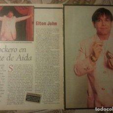 Revistas de música: ELTON JOHN COLECCIÓN DE ARTÍCULOS, REPORTAJE Y REVISTA. Lote 64187963