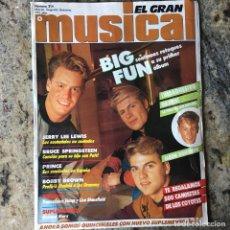 Revistas de música: EL GRAN MUSICAL 314 - MARZO 91 . BIG FUN . BRUCE SPRINGSTEEN . PRINCE . BOBBY BROWN . CON POSTER . Lote 64342395