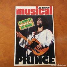 Revistas de música: EL GRAN MUSICAL - PRINCE . GUIA - LA GIRA DE UN GENIO . 1990. Lote 64346207