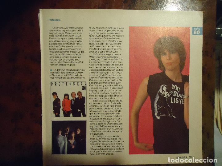 hoja revista musica musical - pretenders - Comprar Revistas antiguas ...