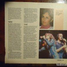 Revistas de música: HOJA REVISTA MUSICA MUSICAL - JOAN BAEZ JAMES TAYLOR Y CAROLE KING. Lote 64731887