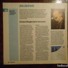 Revistas de música: HOJA REVISTA MUSICA MUSICAL - JOE JACKSON . . Lote 64733107