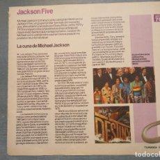 Revistas de música: HOJA REVISTA MUSICA MUSICAL - JACKSON FIVE . LA CUNA DE MICHAEL JACKSON . Lote 64914143
