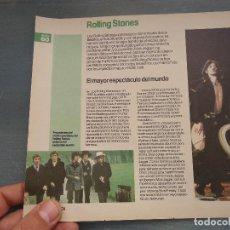 Revistas de música - hoja revista musica musical - rolling stones - 64936507