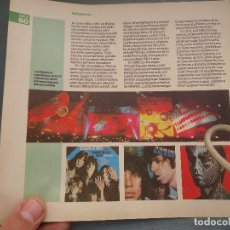 Revistas de música: HOJA REVISTA MUSICA MUSICAL - ROLLING STONES - HOJA A DOS CARAS VER FOTO ADICIONAL. Lote 64936555