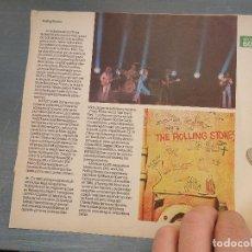 Revistas de música - hoja revista musica musical - rolling stones - 64936607