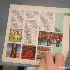 Revistas de música: HOJA REVISTA MUSICA MUSICAL - KINKS. Lote 64942211