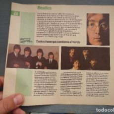 Revistas de música: HOJA REVISTA MUSICA MUSICAL - THE BEATLES . Lote 64942359