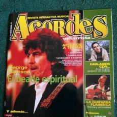 Revistas de música: REVISTA ESPAÑOLA ACORDES GEORGE HARRISON BEATLES . Lote 65921122
