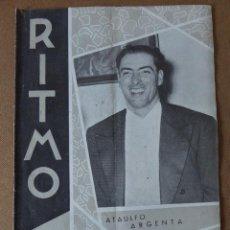 Revistas de música: REVISTA DE MUSICA. RITMO. Nº 292. 1958. ATAULFO ARGENTA, 1913 - 1958 - BENIAMINO GIGLI... . Lote 66083106