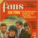 Revistas de música: REVISTA FANS – AÑO III Nº 89 - SAN REMO, LOS GIGANTES, LOS POLARES... POSTER MIKE (LOS BRAVOS). Lote 66210754
