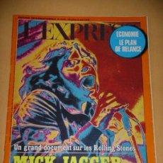 Revistas de música - Rolling Stones, Mick Jagger, L´express nº 1255, año 1975, ercom c8 - 67581137