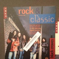 Revistas de música: AVUI ROCK & CLASSIC 8 FEBRER 1995:AUTE, AL TALL, LES RITA MITSOUKO, BLACK CROWES. Lote 105712532