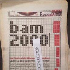 Revistas de música: ROCK&CLASSIC SUPL.AVUI 20-09-2000 CHEVERES,ENTREVISTA PERET,BILL EVANS,COLLEGNO,RANDY NEWMAN. Lote 68288897