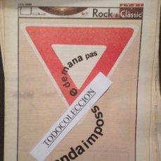 Revistas de música: ROCK&CLASSIC SUPL.AVUI 02-02-2000BANDA IMPOSSIBLE,FLAC,FRANK T,J.ARNELLA,THE CRAMPS,ANOUK,HAB.ROJA. Lote 68289801