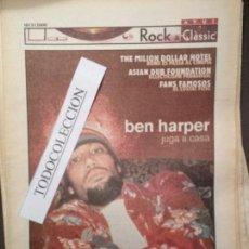 Revistas de música: ROCK&CLASSIC SUPL.AVUI 15-03-2000 BEN HARPER,THE MILLION DOLLAR HOTEL,ASIAN DUB FOUNDATION,S.VEGA. Lote 68290193