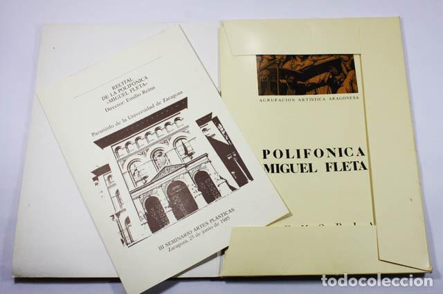 Revistas de música: MEMORIA 1984 POLIFONICA MIGUEL FLETA ZARAGOZA 22 PAGINAS + CARPETA + FOLLETO - Foto 2 - 68395361