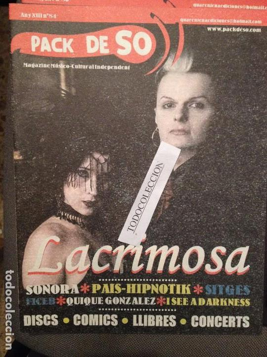 PACK DE SO 84 : SONORA, LACRIMOSA, PAIS-HIPNOTIK, QUIQUE GONZALEZ, I SEE A DARKNESS segunda mano