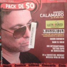 Revistas de música: PACK DE SO 107 (2013) ANDRES CALAMARO,CHIVO CHIVATO,DANI EL ROJO,MERCAT MUSICA VIC 25 EDICIO. Lote 68402661