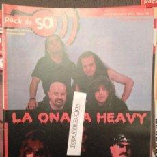 Revistas de música: PACK DE SO 55 (SET 2003) LA ONADA HEAVY,BARON ROJO,ANGELES DEL INFIERNO,LA CAJA DE PANDORA. Lote 103633862