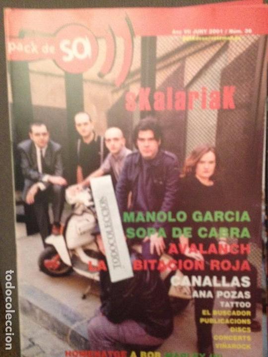 PACK DE SO 36 JUNY 2001 SKALARIAK,MANOLO GARCIA,SOPA DE CABRA,AVALANCH.HABITACION ROJA,CANALLAS (Música - Revistas, Manuales y Cursos)