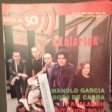 Revistas de música: PACK DE SO 36 JUNY 2001 SKALARIAK,MANOLO GARCIA,SOPA DE CABRA,AVALANCH.HABITACION ROJA,CANALLAS. Lote 68973703