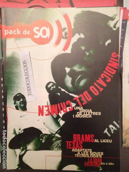 PACK DE SO 11 (1997) SINDICATO DEL CRIMEN,BRAMS,TEXAS,LA GRAN AVENTURA,KOMANDO MORILES.NEGATIVOS, (Música - Revistas, Manuales y Cursos)