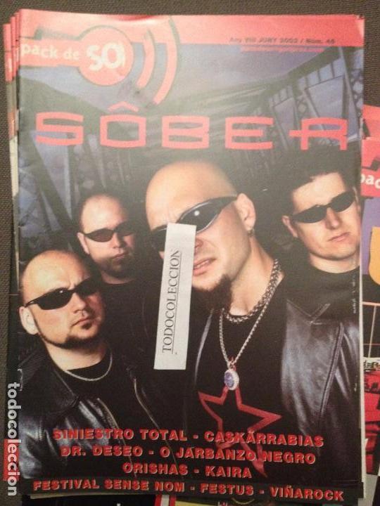 PACK DE SO 46 (JUNY 2002) SOBER,SINIESTRO TOTAL,CASKARRABIAS,DR.DESEO,ORISHAS,KAIRA,O JARBANZO NEGRO (Música - Revistas, Manuales y Cursos)
